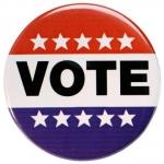 A vote button
