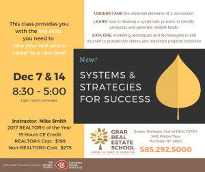 Systems & Strategies for Success class poster